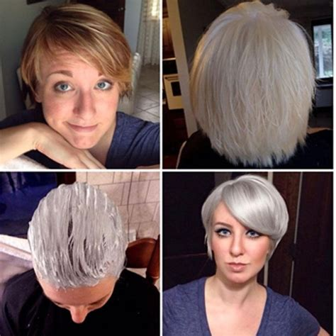 how to get icy silver hair 417 best chic silver grey charcoal grey hair images on