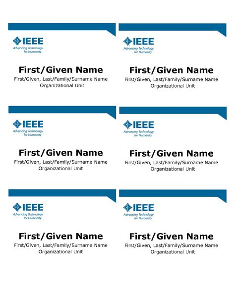 name tag template word template design