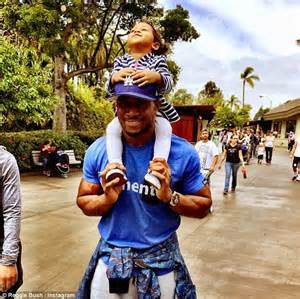 New Della 2 By Briseis s football ex reggie bush welcomes 2nd child daily mail
