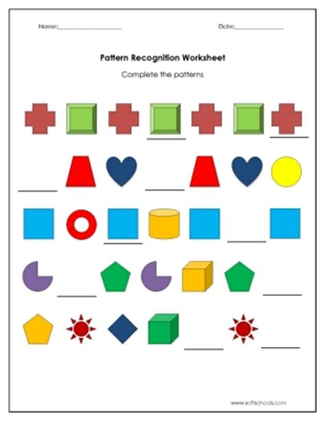 pattern recognition pattern recognition worksheets photos leafsea