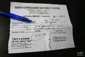 bagong format ng official receipt at sales invoices