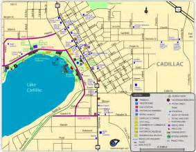 Zip Code For Cadillac Mi Map Of Cadillac Michigan Michigan Map