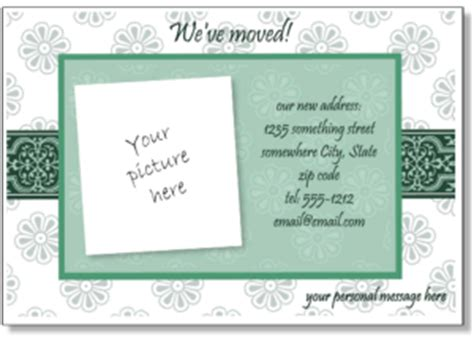 personal address cards templates printable moving announcements add a photo change of