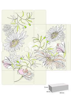 templates for decorative boxes template for decorative box with flowers vector colourbox