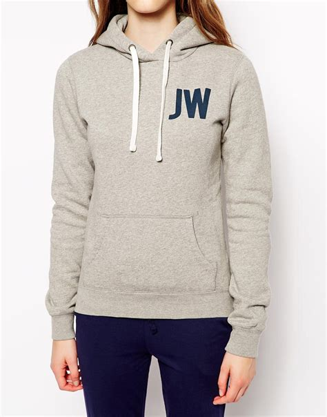 grey pattern hoodie lyst jack wills logo hoodie in gray