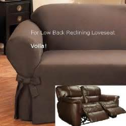 reclining slipcovers reclining loveseat slipcover low back ribbed texture