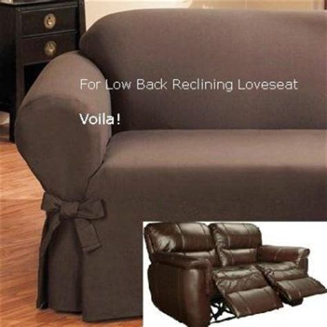 Slipcover For Loveseat Recliner by Reclining Loveseat Slipcover Low Back Ribbed Texture