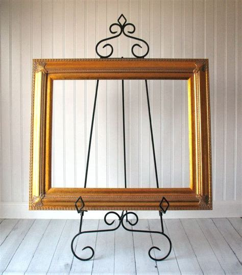 36 Tall EASEL TABLE or FLOOR Large Black Metal by