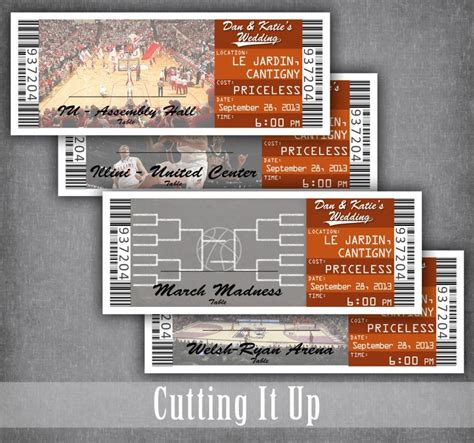 Basketball Ticket Escort Cards Ticket Seating Cards Basketball Wedding Escort Tickets Nba Ticket Template