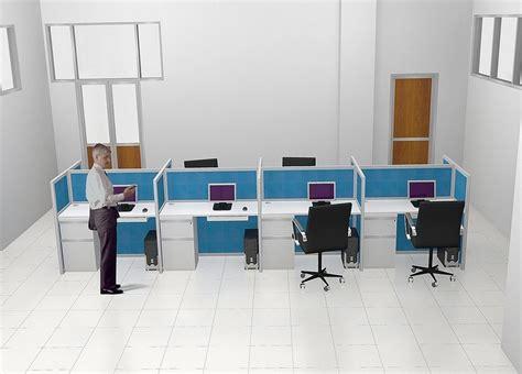Meja Tv Semarang meja kantor plus sekat separuh badan meja kubikel meja