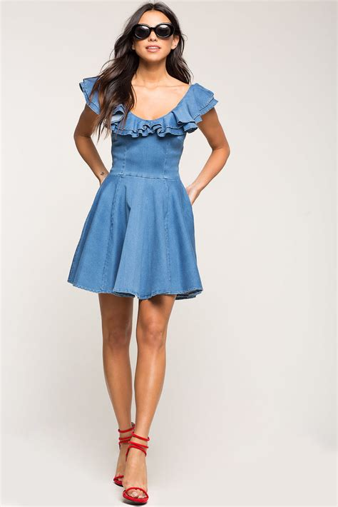 Sweet Flare Skirt s fit flare dresses sweet ruffle fit and
