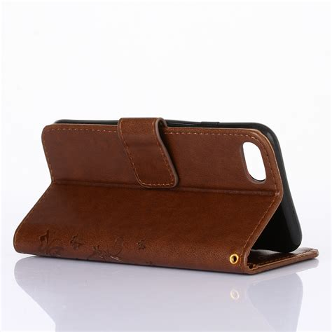 leather iphone wallet pattern butterfly pattern flip leather stand wallet card case