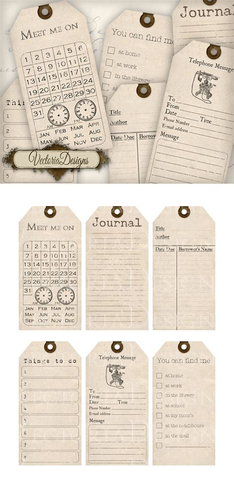 printable journal tags printable journaling tags by vectoriadesigns on deviantart