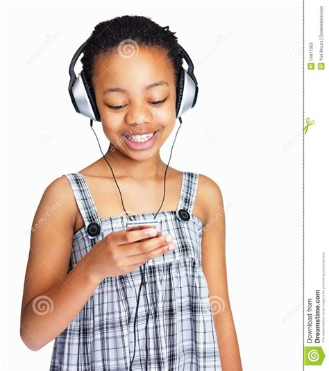 that girl mp stock photos girl with headphones and mp3 player on white