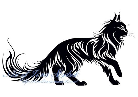 tribal car tattoo maine coon tat idea tattoos cat