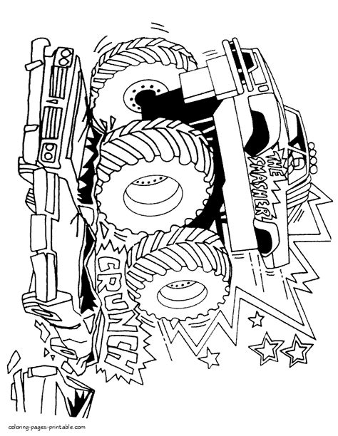 grave digger truck coloring pages truck coloring pages grave digger