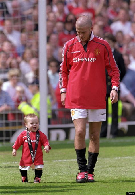romeo beckham manchester united david beckham s son brooklyn has trial at chelsea
