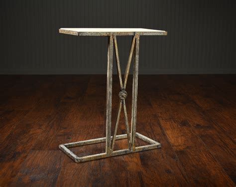 Martini Side Table Medallion Travertine Top Martini Side Table Mecox Gardens