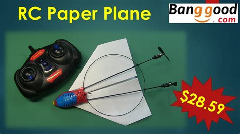 How To Make A Remote Paper Plane - hm830 rc paper plane from banggood