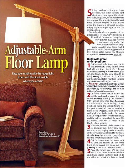 wooden floor lamp plans woodarchivist