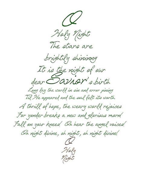 printable words to o christmas tree oh holy night favorite christmas song christmas