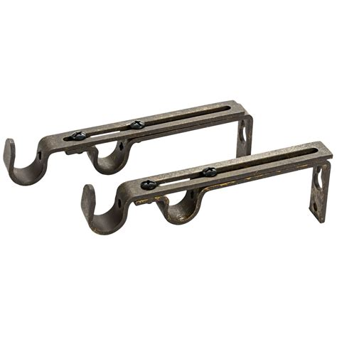 dual curtain rod brackets versailles designer collection double curtain rod brackets