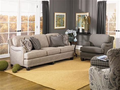 Smith Brothers Living Room Three Cushion Sofa 388 10