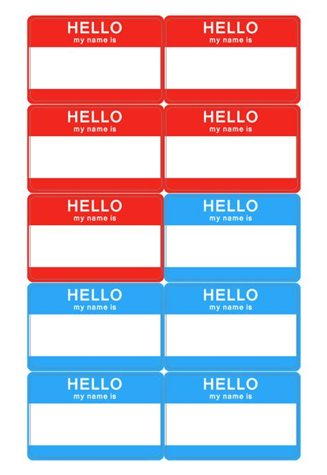 Templates For Name Tags | name tag template download name badge templates