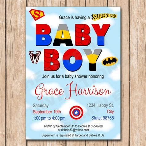 Superman Baby Shower Invitations by 1000 Ideas About Batman Baby Showers On