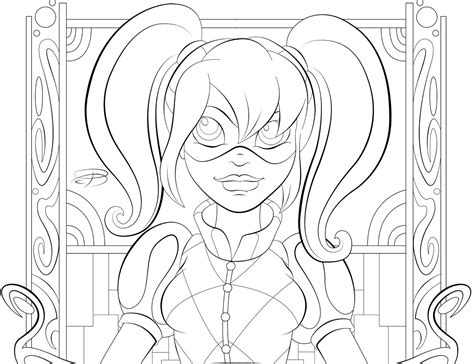 coloring page girl superhero dc super hero girls coloring pages coloring pages