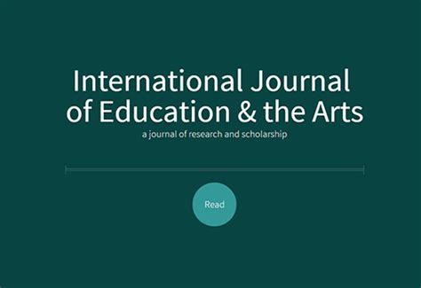 the international journal of art design education international journal of education and the arts