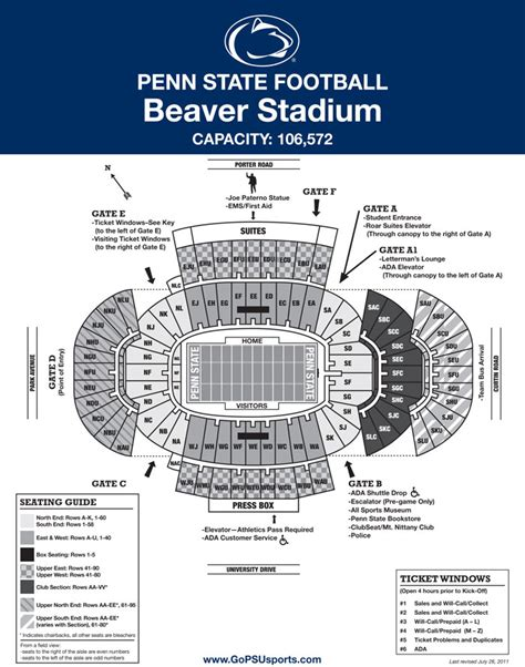 penn state football seating chart penn state student section seating chart penn state