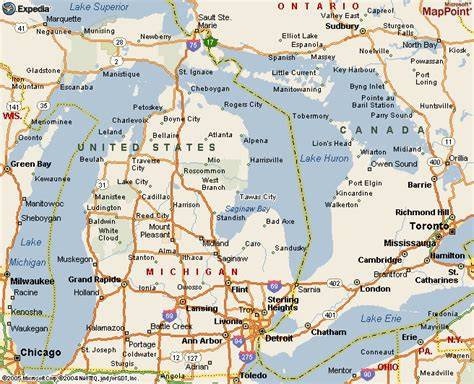 printable road maps of michigan road map lower michigan pictures to pin on pinterest