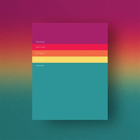 popular color most popular colors of 2015 shown in 8 simple palettes