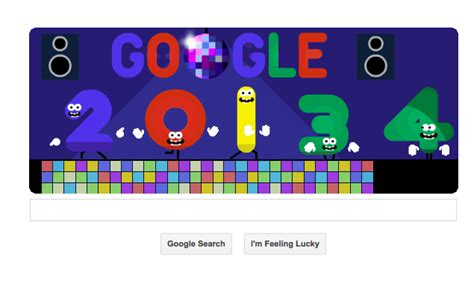 google images new year new year s eve 2013 marked by an animated google doodle