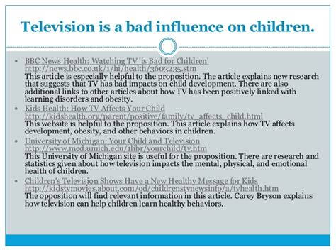 Tv And Influence Children More Than Parents Essay by La 8 Debate Topics And Groups