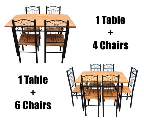 Metal Dining Room Table And Chairs New Kitchen Dining Set With Table Chairs Metal Frame Wood S And Formal Dining Room Ideas