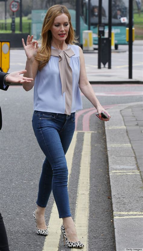 leslie mann street style metallic pumps chunky scarves and structured bags made