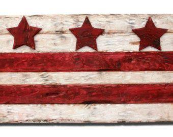 district  columbia flag dc flag dc flag art wood flag