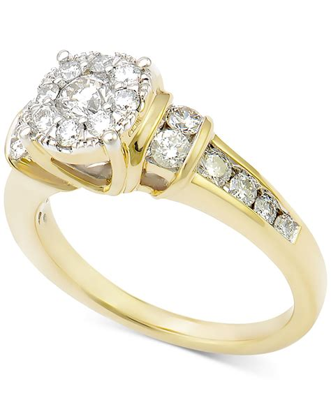 macy s cluster engagement ring 1 ct t w in 14k