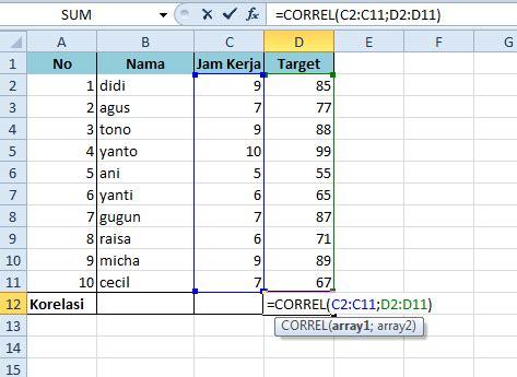 cara menghitung uji normalitas excel cara menghitung nilai korelasi menggunakan microsoft excel
