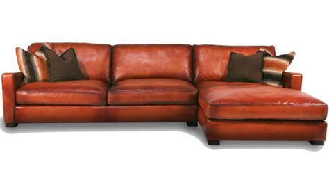 burnt orange leather sectional karen s corner beyond leather furniture from hill