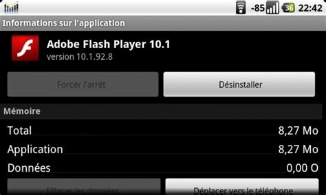 flash version 10 1 for android une version officielle de flash player 10 1 compatible avec tous les androphones sur froyo