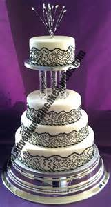 and silver wedding black white and silver wedding cake