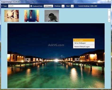 Logon Screen Changer Windows 7