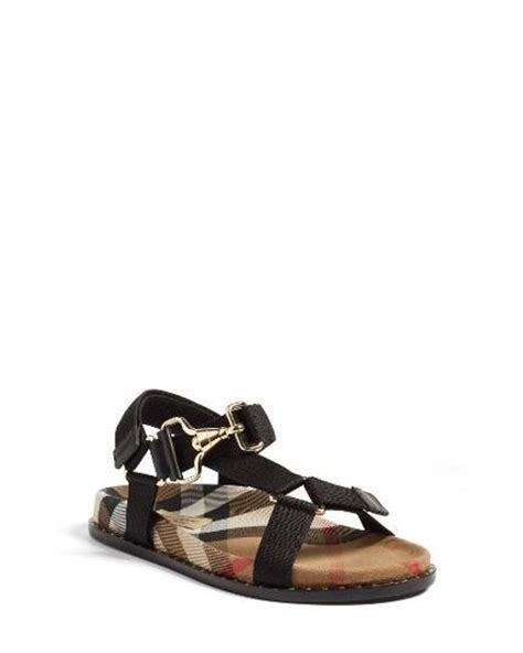 F368 E Burberry Shoes burberry ardall sandal in black lyst