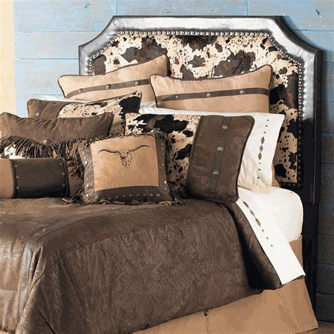 western headboards cowhide headboard king