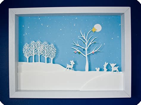 Cut Paper Crafts - winter papercut tutorial at sugar bee crafts
