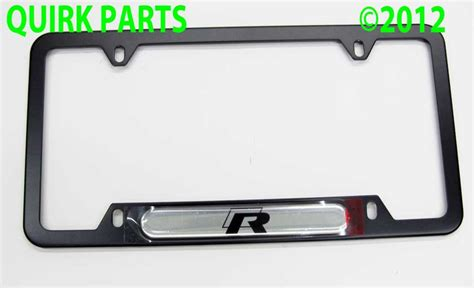 vw volkswagen r line license plate frame genuine brand new