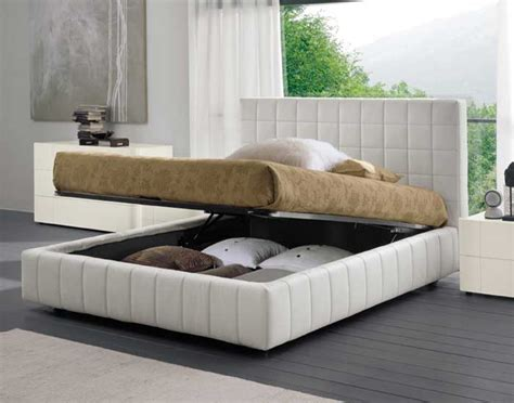 modern bed white bed with storage scacco by dall agnese digsdigs